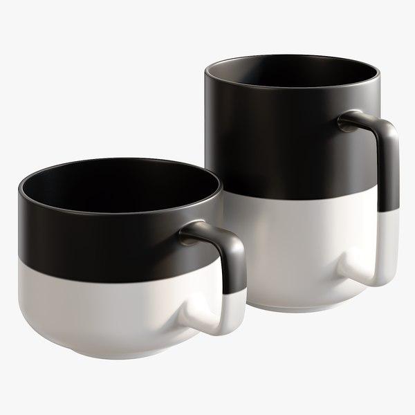 3D realistic dip large mugs