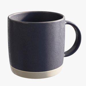 realistic glaze espresso cup 3D model