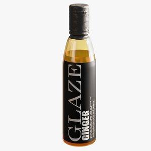 realistic ginger glaze 3D