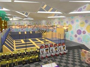 entertainment mall interior 3D
