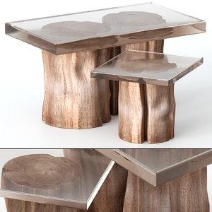 table epoxy stump 3D