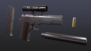 3D world war 2 colt