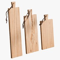 realistic boards teak set 3D