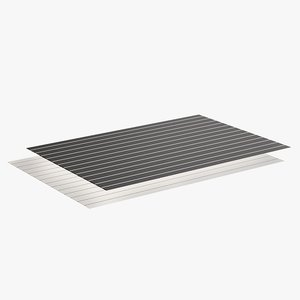 realistic pinstripe placemats 3D model