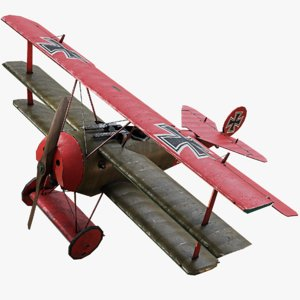 fokker dr1 triplane ww1 model