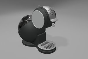 3D coffeemachine modeled