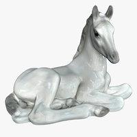 3D porcelain horse model