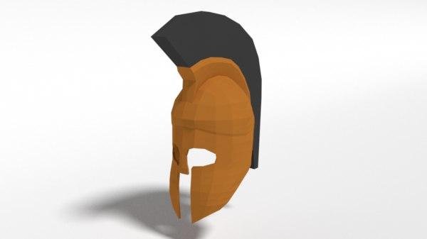 3D ancient greek helmet