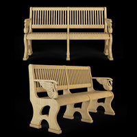 3D bench cnc model