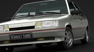 3D model renault 11 turbo