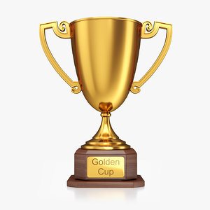 golden cup 3D model