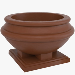 decorative pot 3D