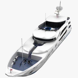 trinity yacht 3D model