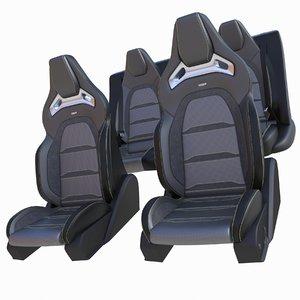 3D mercedes car seats