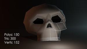 halloween skull 3D model