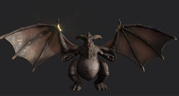 3D dragon pbr gameready