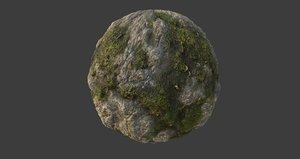 Mossy Rock PBR Texture
