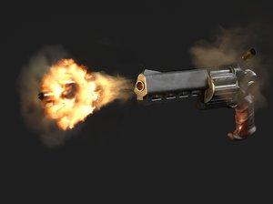 3D original revolver handgun model