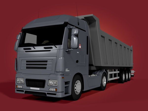 3D tipping truck - trailer