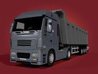 3D tipping truck - trailer