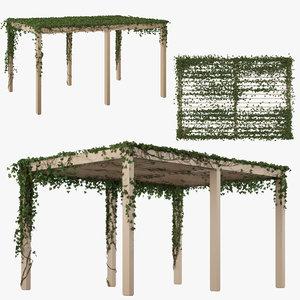 3D garden pergola ivy model