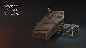 coffins zombie hand 3D