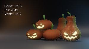3D jack o lanterns pumpkins model