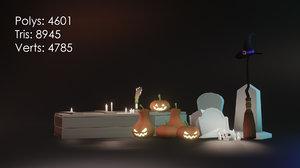 3D model halloween set