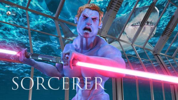 sorcerer male genesis 8 3D model