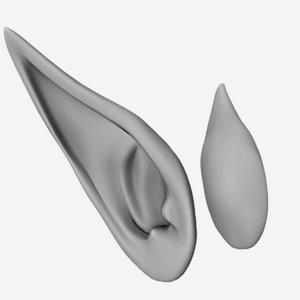 3D elf ears