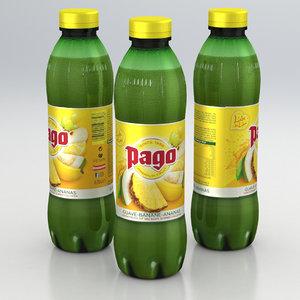 3D beverage juice model