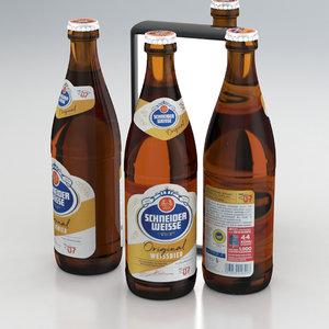 bier weissbier 3D