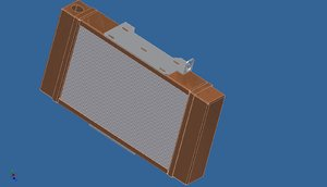 motorbike radiator 3D model