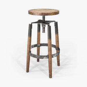 3D bar stool industrial