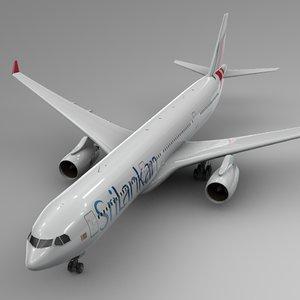 3D airbus a330-300 srilankan airlines model