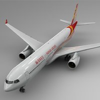 3D model airbus a330-300 hainan airlines