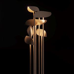 3D paolo castelli lamp model
