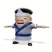 Sushi Chef Cartoon Character