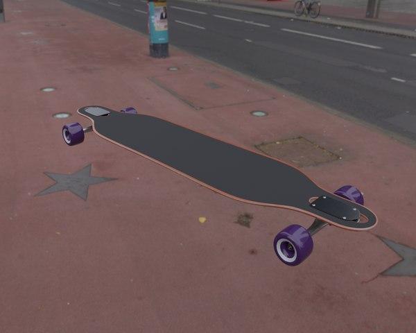 3D longboard board