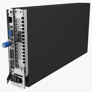 3D model blade server