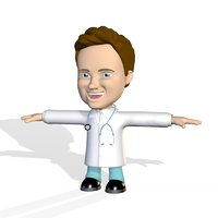 dr doctor cute cartoon 3D model