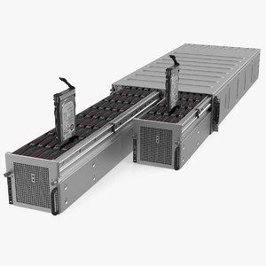 hpe cloudline cl5200 server 3D model