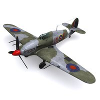 hurricane mk iic 3D model