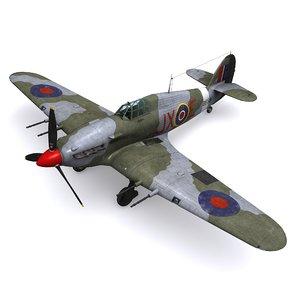 hurricane mk iic 3D model