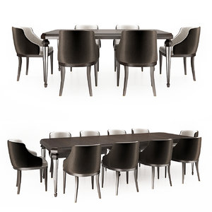chair dining table 3D model
