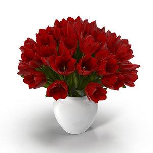 3D tulip flower
