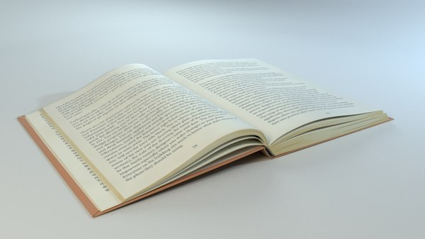 3D book hardcover model