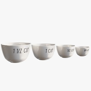 realistic measuring cups 3D