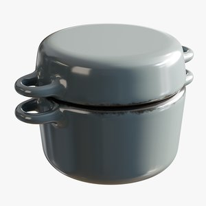 realistic pan casserole mini 3D model
