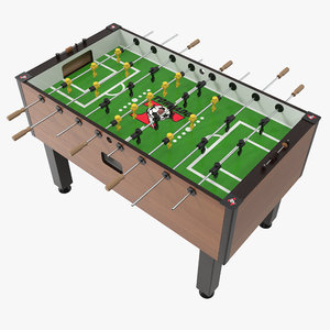 tornado elite foosball table 3D model